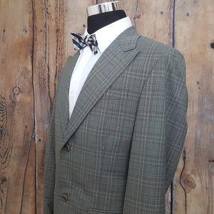 Perry Ellis Sport Coat Mens 42L Poly Blend Green